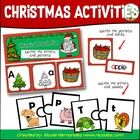 A Whimsical Christmas- Alphabet Puzzles and Matching Activities