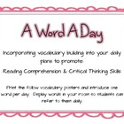 A Word a Day- Incorporating Vocabulary Building into Every