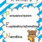 A Writer's PEN (Persuasive, Explanatory, Narrative)