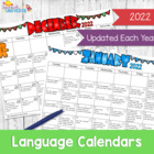 A Year of Language Calendars