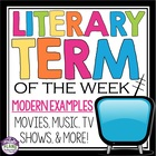 A Year of Literary Terms! Slides With Modern Examples & We