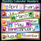 A Year of Monsters Calendar Headers