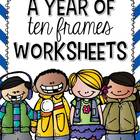 A Year of Ten Frames Worksheets