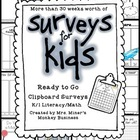 A Year&#039;s Worth of Math/Literacy Survey Centers for Kids