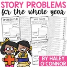 A Year's Worth of Story Problems!{No Prep}