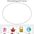 A - Z Beginning Letter Worksheet