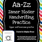 A-Z Handwriting Practice - Zaner Bloser Uppercase &amp; Lowercase