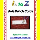 A-Z Hole Punch Cards {Letter Recognition and Fine Motor St