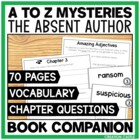A-Z Mysteries &quot;The Absent Author&quot; Book Unit