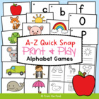 Phonics - A - Z Quick Snap - Center /  Game Activity - Alphabet