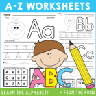 A-Z Worksheets - Identify & Write Single Sounds Phonics