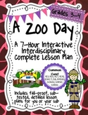A Zoo Day 7-Hour Complete Sub Plan Thematic Unit for Grade