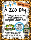 A Zoo Day 7-Hour Complete Sub Plans Thematic Unit for Grad