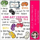 A jelly bean prayer LINE ART bundle by melonheadz