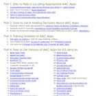 AAC App Resource List