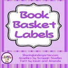 ABC Book Basket Labels