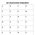 ABC Brainstorm Worksheet