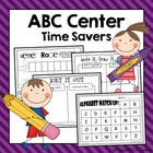 ABC Center Time Savers {Pre-K &amp; Kdg}
