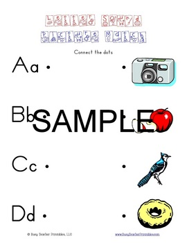 ABC Centers Set 4 - Printable, Ready to Use! PreK-1 Litera