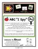"ABC ""I Spy"".  How many letters do you SPY?  Great Center A"