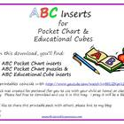 ABC Inserts for Pocket Chart &amp; Educational Cubes