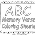 ABC Memory Verse Coloring Pack
