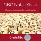 ABC Notes Sheet