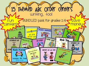 ABC Order Activites {Themed Bundle Pack}