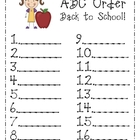 ABC Order - Back to School, August Edition!