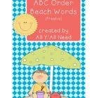 ABC Order Beach Words {freebie}