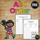 ABC Order Celebration FREEBIE Alphabetical Order Worksheet