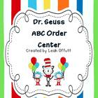 ABC Order-Dr. Seuss Theme