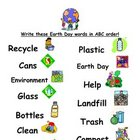 ABC Order Earth Day Words