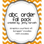 ABC Order - Fall Pack
