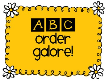 ABC Order Galore Freebie