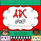 ABC Order Picture Sort Literacy Game Pack