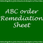 ABC Order Practice or Remediation Tool