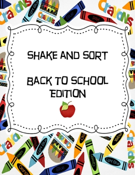 ABC Order - Shake and Sort Back to School Edition