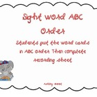 ABC Order Sight Word Literacy Centers