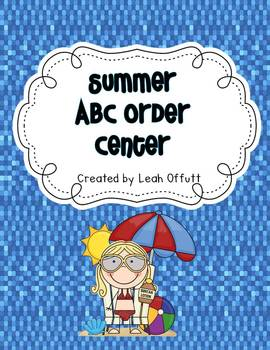 ABC Order-Summer Theme