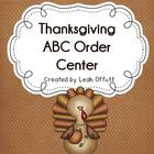 ABC Order-Thanksgiving Theme