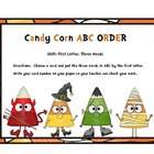 ABC Order Three Words First Letter ( Halloween Theme)