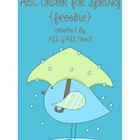 ABC Order for Spring {freebie}