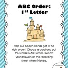 ABC Order (to the 1st letter)