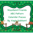 ABC Pattern Woodland Friends Calendar Pieces