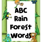 ABC Rain Forest Words