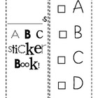 ABC Sticker Book to Record Letter Recognition