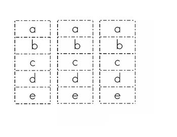 ABC Upper Lower Case Letter Match and Write
