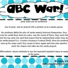ABC War! - Practicing Alphabetic Fluency