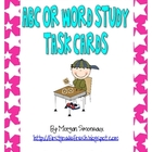 ABC/ Word Study Literacy Task Cards